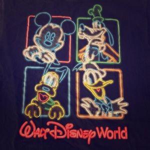 Disney Character t shirt Fluorescent skater